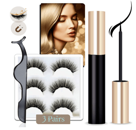 arishine false magnetic lashes and liner