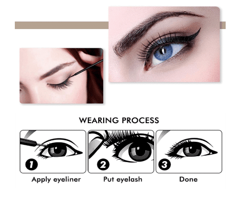 how to apply false magnetic eyelashes