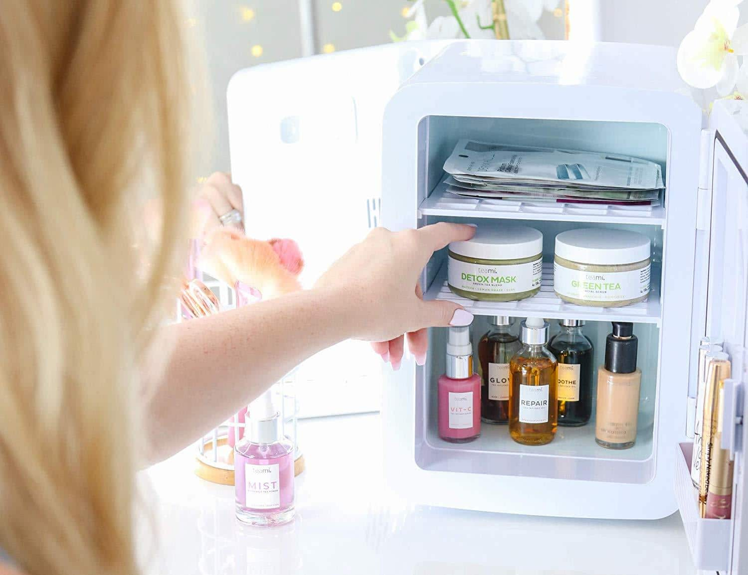 skincare in a beauty fridge