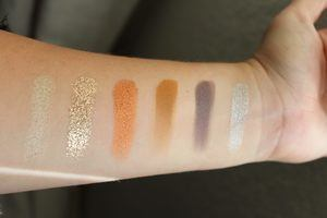 swatches of the morphe x jeffree star palette