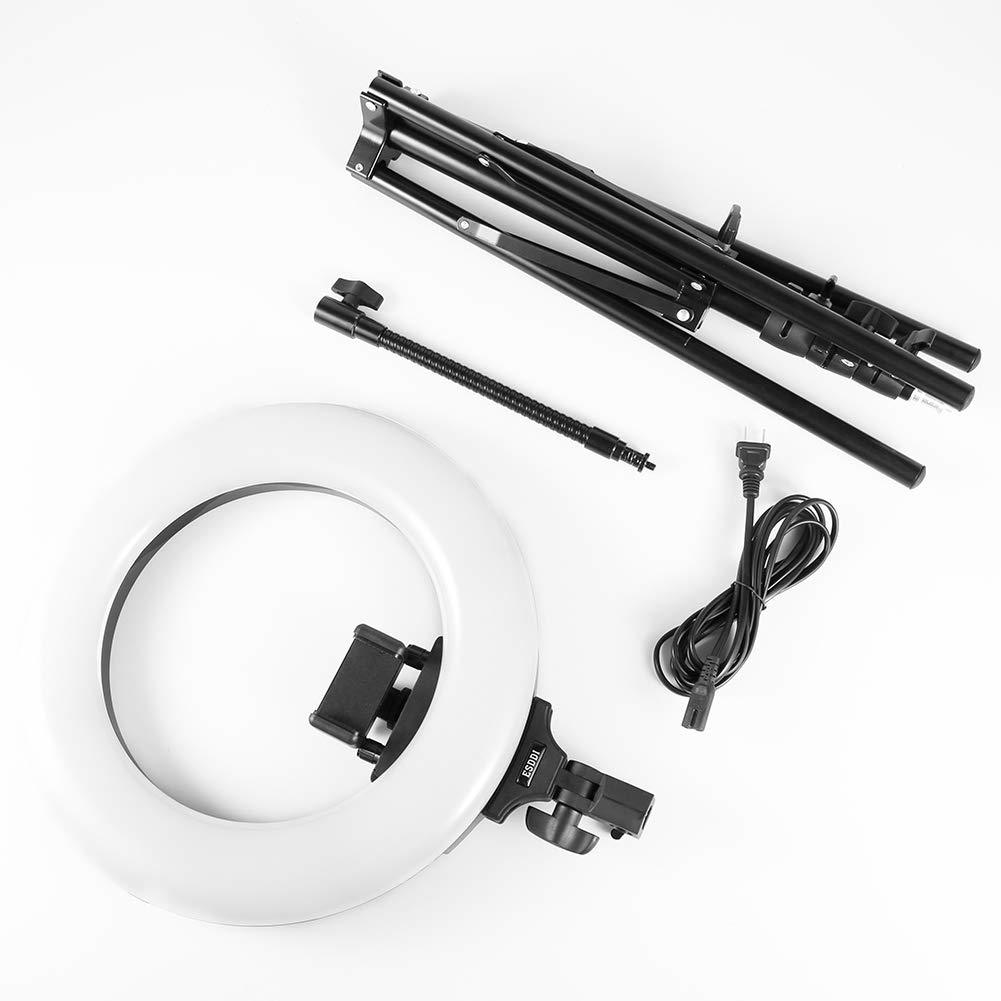 a disassembled ring light