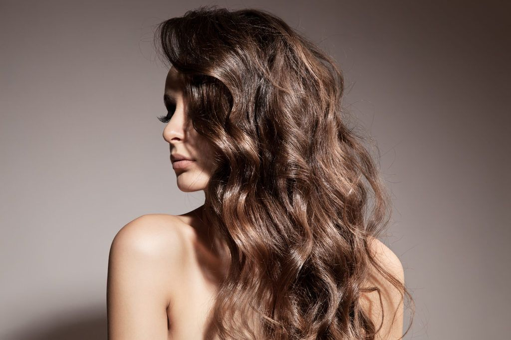 Woman with beachy waves