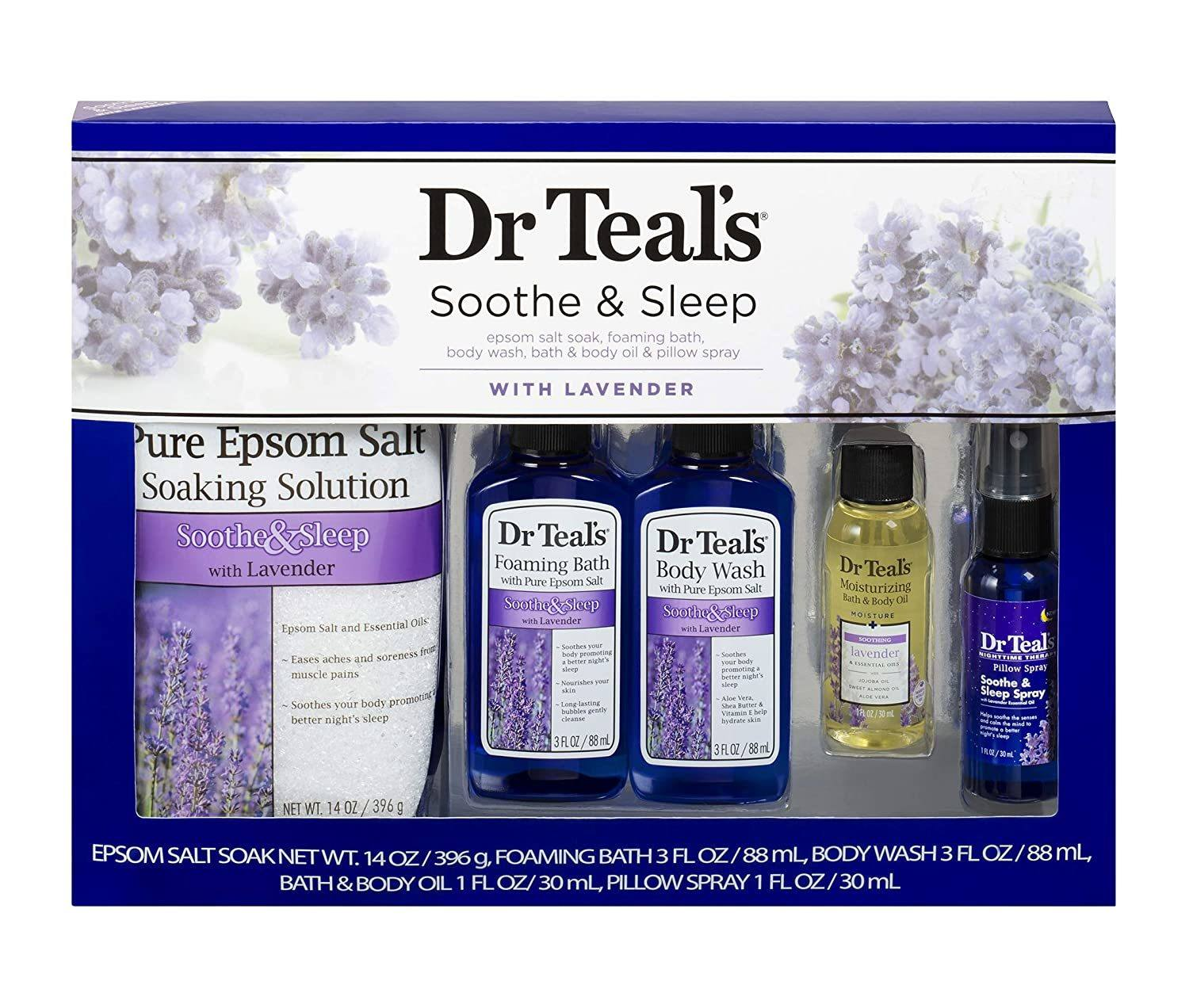 Dr Teals Soothe and Sleep bath set