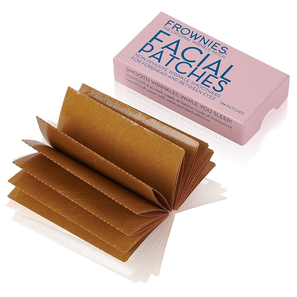 Frownies Facial Patches packaging and patches outside of the box on a white background